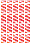 Alsace Flag Stickers - 65 per sheet
